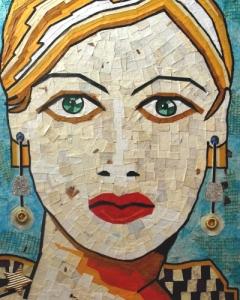Paper Mosaic mixed media canvas board.