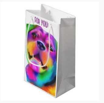 Funky dog gift bag at zazzle