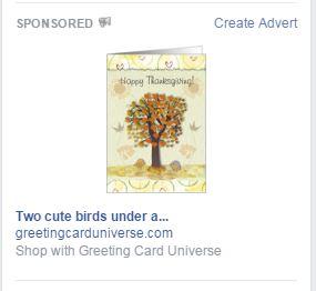 Facebook Sponsored Ad pop up!